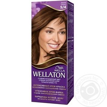 Крем-фарба для волосся Wellaton каштан 5/4 - купити, ціни на Novus - фото 1