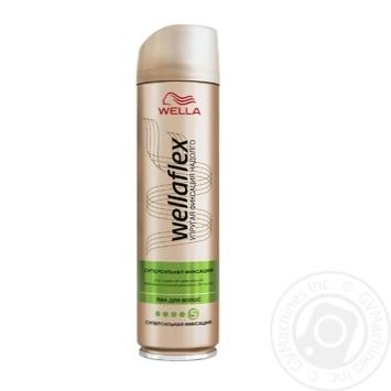 Лак для волос WELLAFLEX Суперсильная фиксация 250мл - купить, цены на Ашан - фото 1