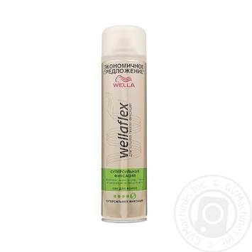 Лак для волос Wellaflex суперсильная фиксация 400мл