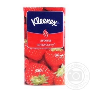 Tissues aromatized Kleenex Aroma Strawberry (3 layers of sheet size 21*20cm) 10pcs
