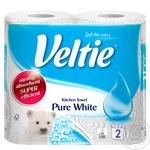 Паперові полотенця Veltie Ecolabel, Білі 2х рул 47 листів