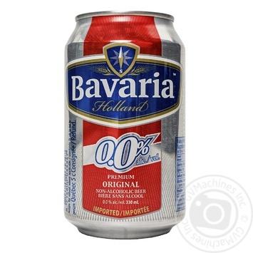 Пиво Bavaria Holland Premium светлое безалкогольное ж/б 0% 0,3л - купить, цены на Метро - фото 1