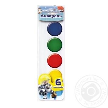 Фарба акварель медова 6 кольорів Міцар Ц701015У - купити, ціни на Фуршет - фото 1