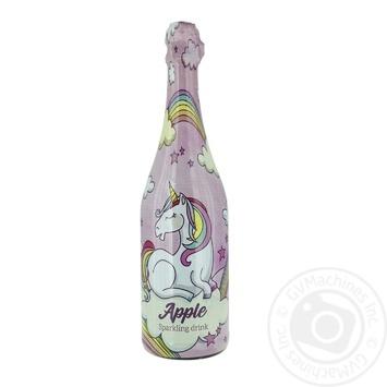 Шампанское детское Единорог Яблоко 0,75л - купить, цены на МегаМаркет - фото 1