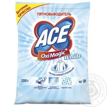 Пятновыводитель Ас ОксиМэджик Вайт для белых тканей 200г - купить, цены на Ашан - фото 1