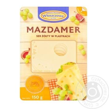 Сыр Wloszczowski Маасдамер 45% 150г