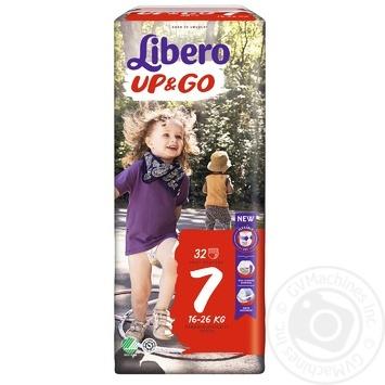 Підгузники-трусики LIBERO Up<(>&<)>Go 7 32 шт. - купить, цены на Novus - фото 1