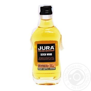 Віскі Isle of Jura Seven Wood 42% 50мл - купити, ціни на МегаМаркет - фото 1