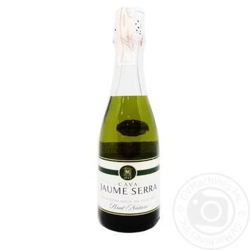 Cava Jaume Serra Brut Nature Sparkling wine 11.5% 0.375l - buy, prices for CityMarket - photo 1