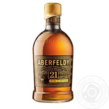 Whiskey Aberfeldy 40% 21yrs 700ml in a box Scotland England - buy, prices for Novus - image 1