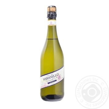 Вино игристое Maranello Lambrusco Bianco Amabile Emilia белое полусладкое 750мл - купить, цены на Фуршет - фото 1