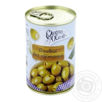 Маслини зелені Buena Oliva без кісточки 0,314л - купити, ціни на CітіМаркет - фото 1