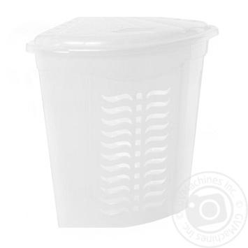 Кошик д/білизни кут.біл.Н555 Ал-Пластик - купить, цены на Фуршет - фото 1