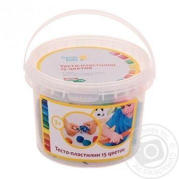 Н-р д/лепки Genio Kids Тесто-пластилин 15цв шт - купить, цены на Novus - фото 1