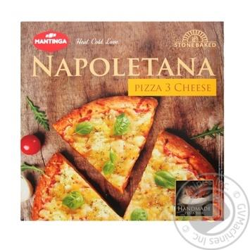 Пицца Mantinga Napoletana Три сыра быстрозамороженная 305г - купить, цены на Ашан - фото 1