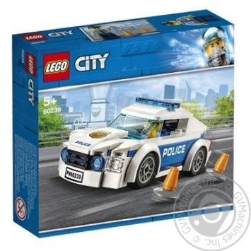 Конструктор Lego Полицейское патрульное авто 60239 - купить, цены на Ашан - фото 1
