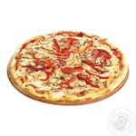 Pizza with meat and bell pepper 400g