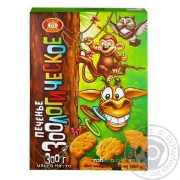 Печенье Бисквит Шоколад Зоологическое 300г - купить, цены на Фуршет - фото 1