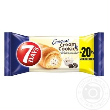 Круасан 7 Days з ванільним кремом та печивом 110г - купити, ціни на Метро - фото 1