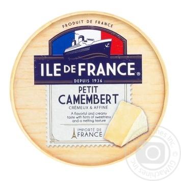 Сыр Ile de France Petit Camembert мягкий 50% 125г - купить, цены на СитиМаркет - фото 1