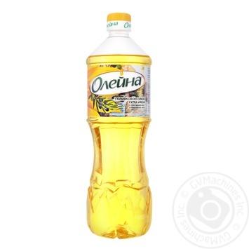 Масло Олейна купажированное подсолнечное с оливковым маслом Extra Virgin 870мл - купить, цены на Восторг - фото 1