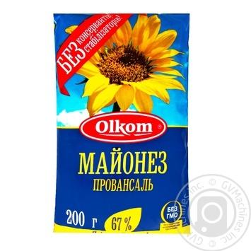 Mayonnaise Olkom Provansal 67% 200g - buy, prices for MegaMarket - image 1