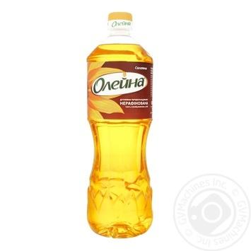 Олія Олейна соняшникова нерафінована 850мл - купити, ціни на ЕКО Маркет - фото 1