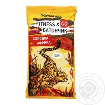Батончик Кохана Fitness&Go Сладкая Африка Ананас 40г - купить, цены на МегаМаркет - фото 1