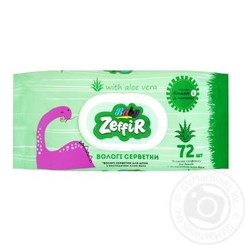 Zeffir Wet Wipes for Children with Aloe Vera Extract 72pcs