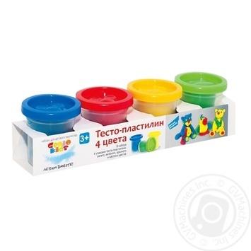 Genio kids Dough-plasticine 4 colors - buy, prices for MegaMarket - image 1