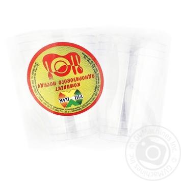 Рюмка Унипак пластиковая одноразовая 40мл 6шт - купить, цены на Ашан - фото 1
