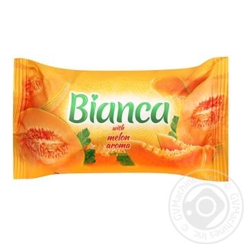 Мыло Bianka туалетное твердое Melon aroma 140г - купить, цены на Фуршет - фото 1