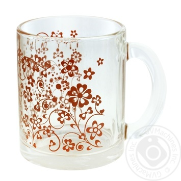 Кружка чайный Цветы П/П 300мл - купить, цены на Фуршет - фото 1