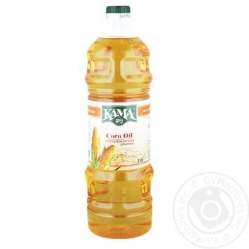 Kama Refined Deodorized Corn Oil 1l - buy, prices for MegaMarket - image 1