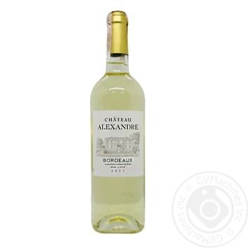 Wine Ch Alexandre Bordeaux white semi-sweet 0.75l - buy, prices for Furshet - image 1