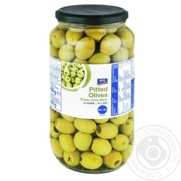 Оливки Aro зеленые без косточки 935мл