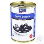 Оливки чорні Aro без кісточки 300г