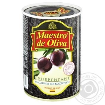 Maestro de Oliva Pitted Black Olives 425g - buy, prices for MegaMarket - image 1