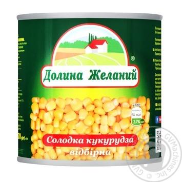 Кукурудза Долина Бажань солодка відбірна 425мл - купити, ціни на Фуршет - фото 1