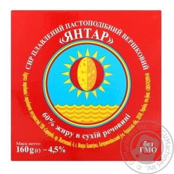 Сыр плавленый Высь Янтарь сливочный 60% 160г