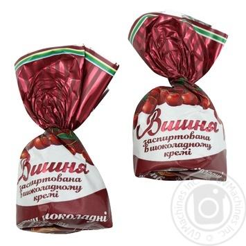 Цукерки Бісквіт-Шоколад Вишня заспиртована в шоколаді