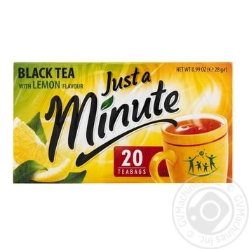 Just a Minute Black Tea with Lemon Flavor 20pcs*1.4g