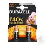 Батарейки Duracell AA 1,5V LR6 2шт