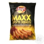 Чіпси Lays Max 120 г Курячі крильця барбекю