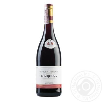 Вино Pasquier Desvignes Beaujolais красное сухое 12% 0.75л