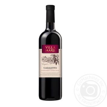 Wine Villa mare red semisweet 9-13% 750ml glass bottle Ukraine