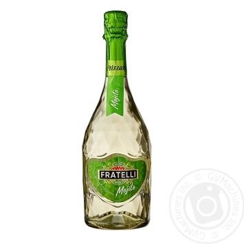 Напиток винный слабогазированный Fratelli Frizzante Мохито белый полусладкий 6-6,9% 0,75л - купить, цены на Фуршет - фото 1