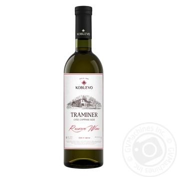 Вино Коблево Траминер Reserve Wine сухое белое 13% 0,75л - купить, цены на СитиМаркет - фото 1