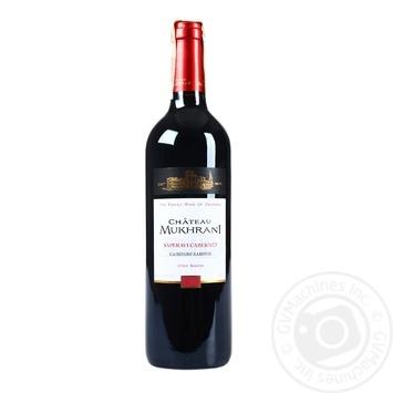 Вино Chateau Mukhrani Саперави Каберне красное сухое 12.5% 0,75л - купить, цены на Фуршет - фото 1