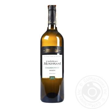 Вино Chateau Mukhrani Chardonnay белое сухое 12,5% 0,75л - купить, цены на МегаМаркет - фото 1